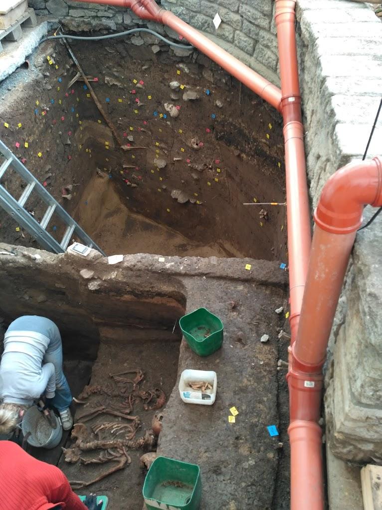 Archeologické práce Kostnice v Kutné Hoře